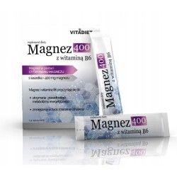 Magnez 400 mg z wit B6 cytrynian VITADIET saszetki